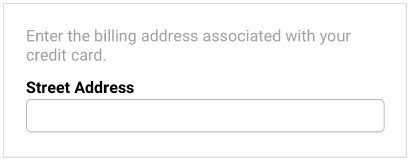 street address microcopy